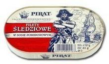 Łosoś Filety śledziowe w sosie pomidorowym 170 g Pirat