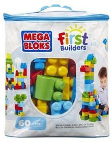 Mega Bloks First Builders KLOCKI 60 el. torba niebieska CYP67/DCH55