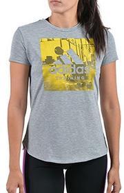 Adidas Damskie Category Training koszulka T-shirt, szary, l CD8454