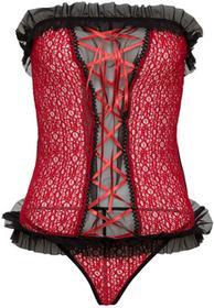 Bonprix Top + stringi (2 części) czerwono-czarny