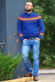 Męski sweter ERIK NAVY 0005001-51