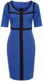Bonprix Sukienka błękit królewski-czarny