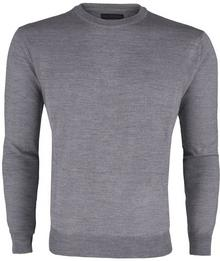 Tru Trussardi Sweter Light Grey