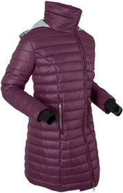 Bonprix Długa kurtka outdoorowa z kapturem, z workiem czarny bez - matowy srebrny