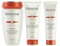 Kerastase KERASTASE NUTRITIVE IRISOME Zestaw do włosów cienkich kąpiel 1 250 ml, odżywka 200 ml oraz nektar termiczny 150 ml 8070