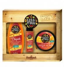 Tutti Frutti Tutti Frutti Zestaw prezentowy Brzoskwinia& Mango Olejek do kapieli 425ml + Masło do