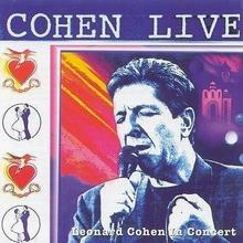 Cohen Live CD Leonard Cohen