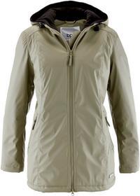 Bonprix Długa kurtka przejściowa, ocieplana khaki