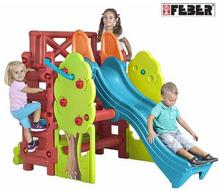 Feber Plac zabaw ze zjeżdżalnią i stolikiem Wood House 09590