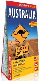 ExpressMap praca zbiorowa comfort! map Australia. Laminowana mapa samochodowo-turystyczna 1:4250 000