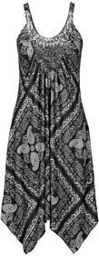 Bonprix Sukienka czarno-szaro-kolorowy