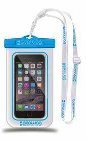 NoName Wodoodporne wodoszczelne etui do smartfona biało-niebieskie SEAWAGW2X