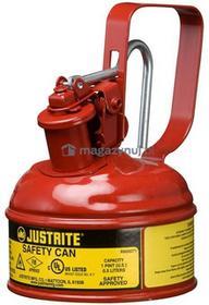 Topserw Pojemnik zabezpieczający stalowy na płyny łatwopalne 0,5 l, Typ I, czerwony