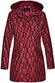 Bonprix Długa kurtka z nadrukiem czerwony klonowy - biały z nadrukiem