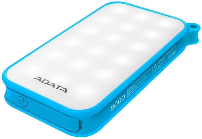 Adata Powerbank D8000 8000mAh 2.1A Blue Light AD8000L-5V-CBL