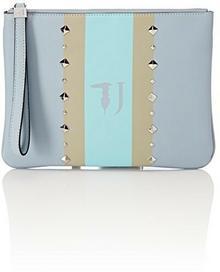 18291e203cf99 ... Trussardi Jeans Trussardi dżinsy damskie Blondie ecoleather Print  Strips studs Pochette Clutch
