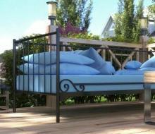 Sofa ogrodowa Lak System wzór 3 + stelaż elastyczny