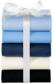 Bonprix Skarpetki damskie GO IN (5 par) czarny + ciemnoniebieski + niebieski aruba + biel wełny + pastelowy niebieski