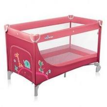 Baby Design Łóżeczko turystyczne Simple 02 różowy SIMPLE 02