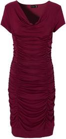 Bonprix Sukienka z drapowaniem bordowy