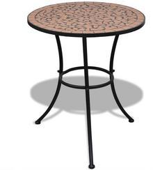 vidaXL Mozaikowy stolik 60 cm Terracotta