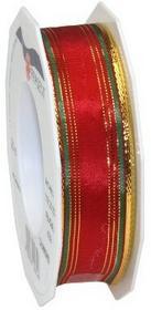Na prezent 25MM 20m Chamonixpasek do zegarka z drutu, złotej krawędzi, czerwony/zielony