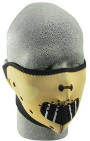 Zan Połowa maska na twarz maska na twarz wykonana z neorpren Hannibal lecter motocyklowy/rowerowy/ski WNFM038H