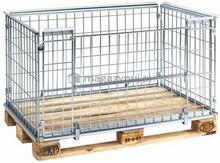 Kongamek Wózek na kółkach/skrzyniopaleta, wym. 1150 x 740 x 620 mm (otwieranie na krótkim boku)