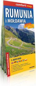 ExpressMap praca zbiorowa comfort! map Rumunia i Mołdawia. Laminowana mapa samochodowa 1:800 000