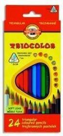 Koh-i-noorKredki Triocolor 7mm 24 kolory
