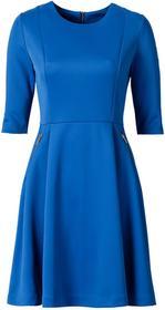 Bonprix Sukienka neoprenowa lazurowy