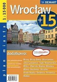 zbiorowa Praca Wrocław +15 plan miasta 1:15 000 / wysyłka w 24h