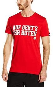 Adidas męski T-shirt FC Bayern Graphic, czerwony, m AA2228_Fcb True Red_M