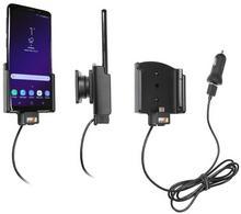 Brodit AB Uchwyt do Samsung Galaxy S9 z wbudowanym kablem USB oraz ładowarką samochodową. 721038