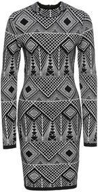 Bonprix Sukienka żakardowa czarno-złoty