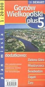 Gorzów Wielkopolski plus 5 - plan miasta (skala: 1:20 000) - Demart