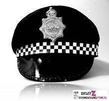 Czapka Policjanta przebranie policyjna 1970