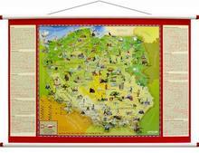 ArtGlob Polska Młodego Odkrywcy MIDI mapa ścienna dla dzieci - Artglob