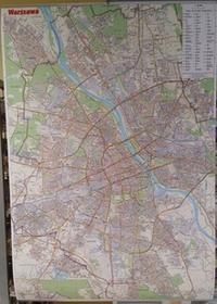 GAUSS Plan miasta Warszawa. Mapa ścienna. 1:28 000 - Opracowanie zbiorowe