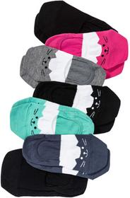 Bonprix Skarpetki stopki z buzią kota (7 par) kolorowy