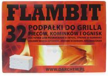 Flambit Podpałka w kostce do grilla pieców kominków i ognisk 32 szt.