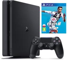 Sony PlayStation 4 Slim 500 GB Czarny + FIFA 19