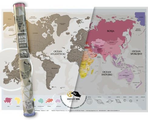 Playprint Mapa zdrapka Premium Europa Świat - Playprint