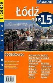 Łódź - plan miasta (skala 1:20 000) - Praca zbiorowa