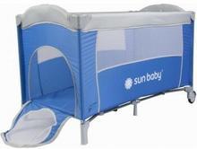 Sun Baby Łóżeczko jednopoziomowe Sweet Dreams niebieskie SD707/NS