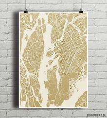 Sztokholm - plakat kartograficzny A2