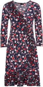 Bonprix Sukienka z założeniem kopertowym: must have ciemnoniebieski w kwiaty