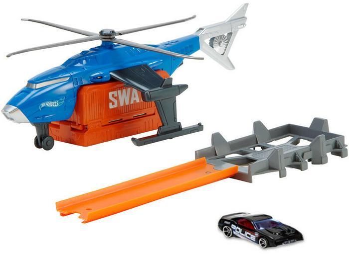 Mattel Super pojazd Helikopter S.W.A.T + autko CDK80 CDK80 CJR34