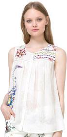 Desigual bluzka damska Circinus M kremowy
