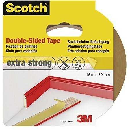 Scotch 42041550 taśma klejąca, dwustronne, do mocowania listwy przypodłogowe 50 MM X 15 m, brązowy 42041550